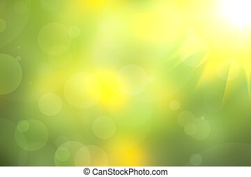 Green Background lighting and bokeh