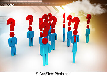People and question mark