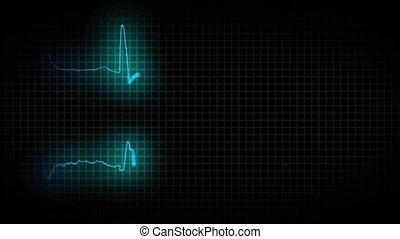 cardiogram healthy heart and cardiogram sick heart