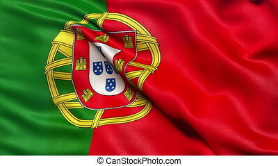 Flag of Portugal - seamless loop - Seamless loop of the...