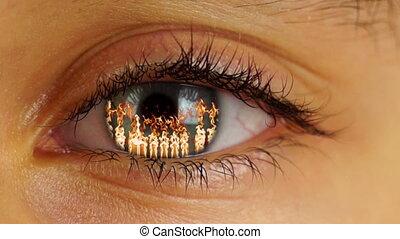Fire in Human Eye