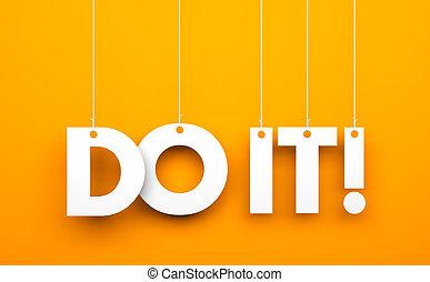 Do it! Conceptual business image