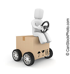 Express delivery - Transportation and shipping Isolated on...