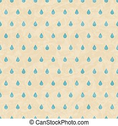 Vintage grunge old seamless pattern with drops. Vector...