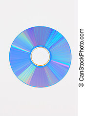 Virus free cd disk isolated on white