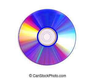 Virus free cd disk isolated on white.