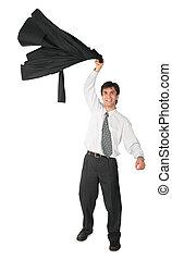 Armenian businessman swings  jacket