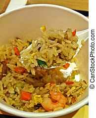 Chinese seafood fried rice takeaway