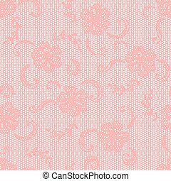 Vintage lace background, ornamental flowers. Vector texture...