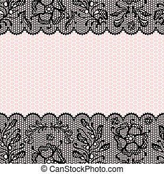 Vintage lace frame, ornamental flowers Vector texture -...