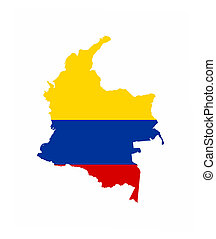 colombia flag map - colombia country flag map shape national...