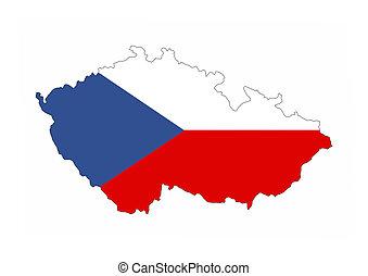 czech republic flag map