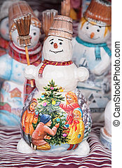painted toy snowmans