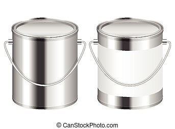 paint can - Paint can set on a white background.