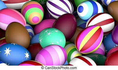 Easter eggs - Colorful easter eggs festive background