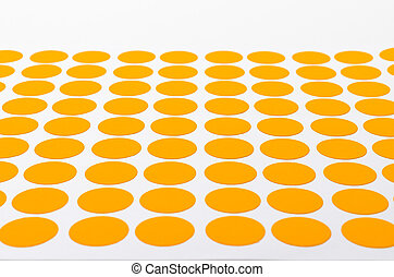 Orange Circular Stickers. - Orange Small Circular Stickers....
