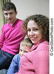 family in room