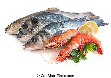 Assorted fresh seafood