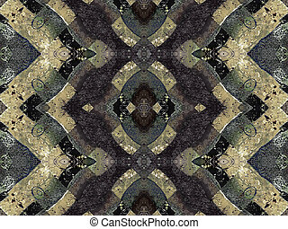 Geometric Pattern Grunge - Digital art collage and...