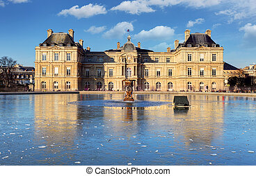 Luxembourg Palace in Jardin du Luxembourg, Paris, France