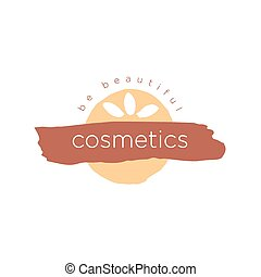 vector abstract logo for cosmetics and beauty