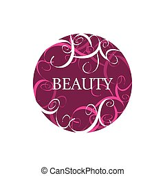round abstract vector logo for fashion