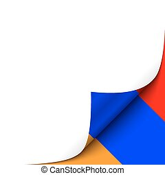 Curled up Paper Corner on Armenian Flag Background.Vector...