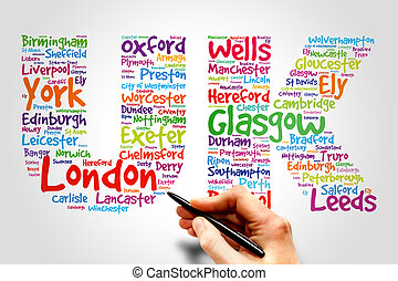 United Kingdom, travel concept - United Kingdom (UK), cities...