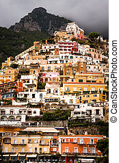 Positano cliffside view, vertical