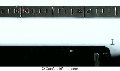 Typewriter Typing text: i feel good - Typewriting on an old...