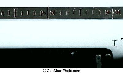Typewriter Typing text: im busy - Typewriting on an old...