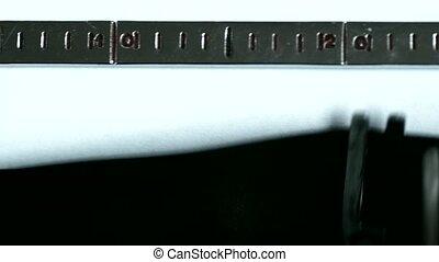 Typewriter. Typing text: stupid - Typewriting on an old...