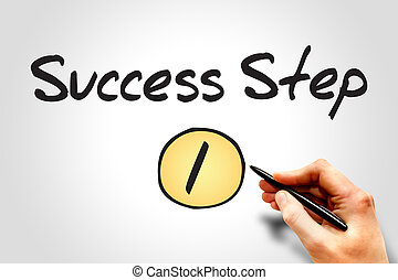 1 Success Step, sketch business concept