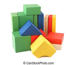 wood cubes toys