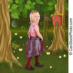 little girl in fairy tale