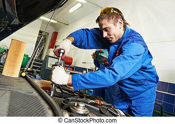 working repairman auto mechanic - auto repairman industry...