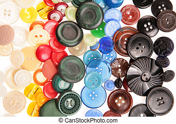 old many colored buttons