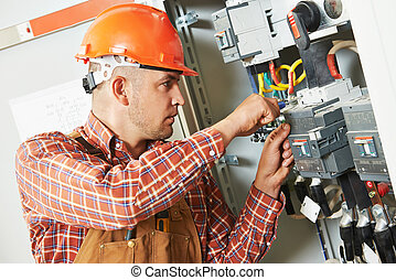 electrician engineer worker - electrician builder engineer...