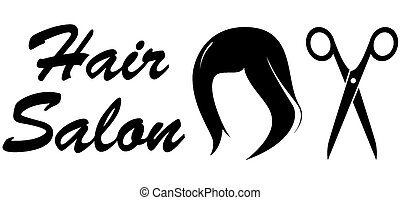 hair salon icon on white backdrop