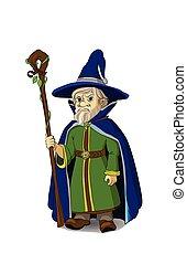 Gloomy Cartoon Wizard