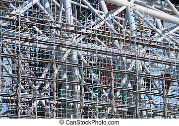 Industrial construction frame