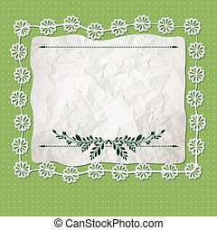 crumpled sheet - Invitation cards in an old style. vector...