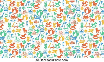 Toys, Video animation - Toys background, Video animation, HD...