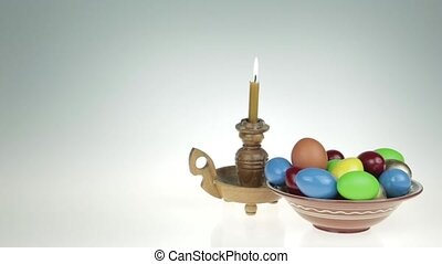 Easter still life. Orthodox, Catholic, Jewish Passover. On...