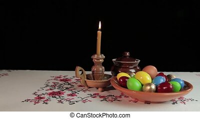 Easter still life - Orthodox Easter On the table is a plate...