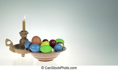 Happy easter - Easter still life. Orthodox, Catholic, Jewish...