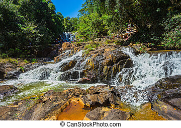 Datanla waterfall - DALAT, VIETNAM - JUNE 14, 2014:...