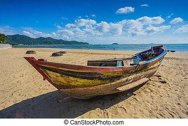 Fishing boats in marina at Vietnam - Fishing boats in marina...