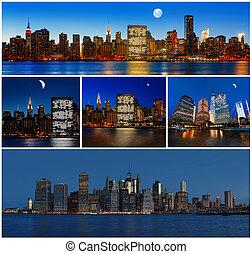 New York City skyline panorama - Manhattan New York City...