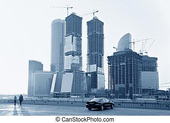 building of  skyscrapers